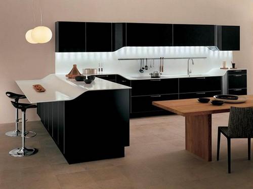 Cozinha Moderna Tons Escuros