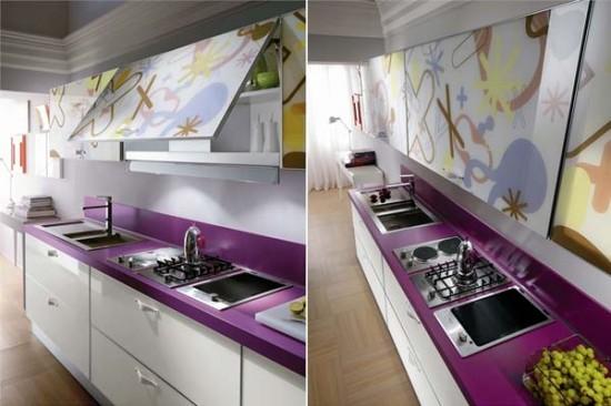 Cozinha Moderna Roxa