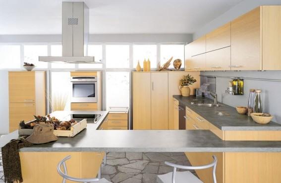 Cozinha Moderna Bege e Cinza