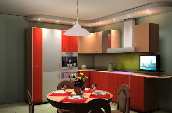 Cozinha Moderna em tons de vermelho