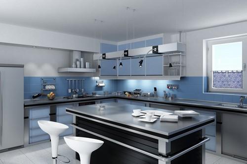 Cozinha Linda e Elegante (Azul e Preto)