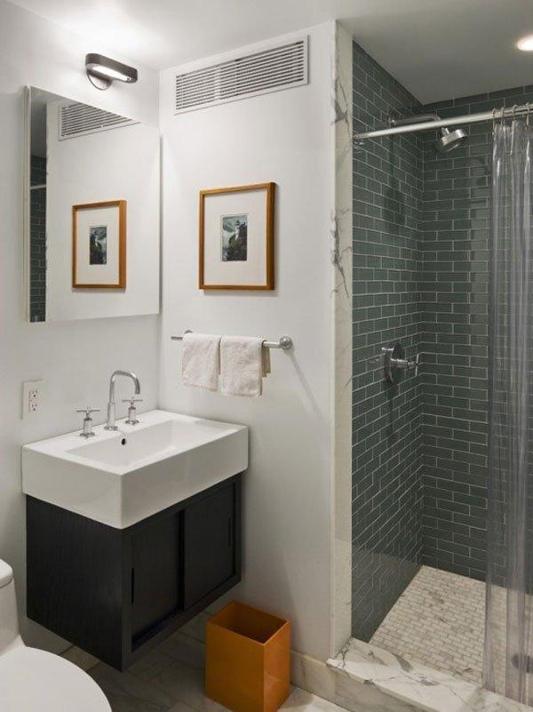 7 ideias e 42 Fotos para Decoraç u00e3o de Banheiros Pequ