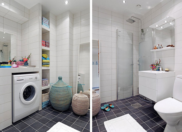 7 ideias e 42 fotos para decora o de banheiros pequenos for Lavaderos pequenos modernos