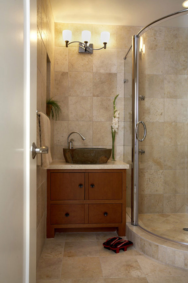 7 ideias e 42 fotos para decora o de banheiros pequenos for Decoracion apartamentos pequenos modernos 2017