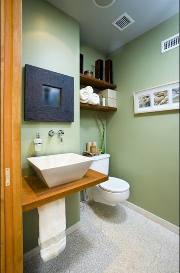 7 ideias e 42 fotos para decora o de banheiros pequenos for Diseno lavabos pequenos