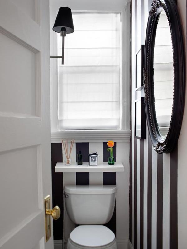 7 ideias e 42 fotos para decora o de banheiros pequenos. Black Bedroom Furniture Sets. Home Design Ideas