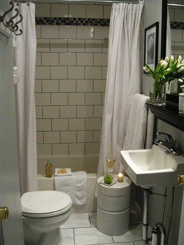 7 ideias e 42 fotos para decora o de banheiros pequenos for Soluciones para banos muy pequenos