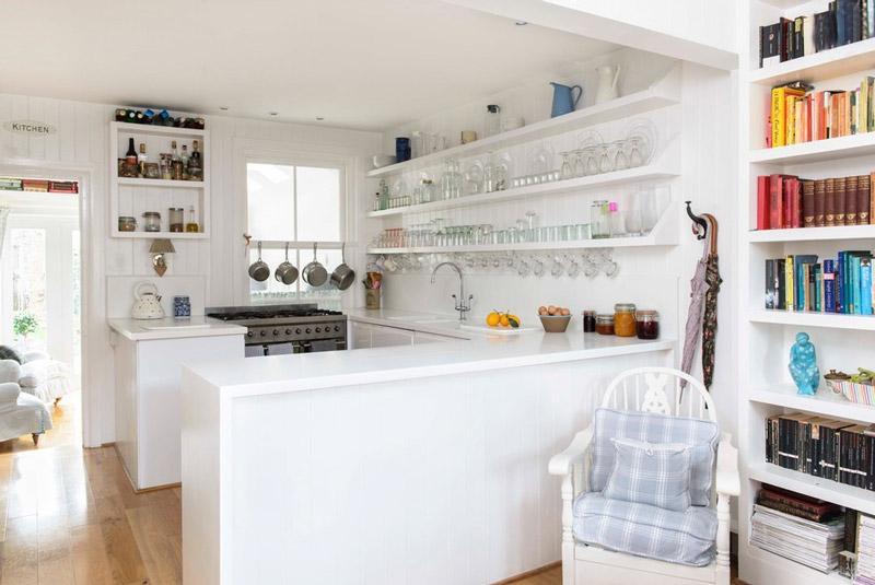 5 dicas para organizar uma cozinha pequena 29 fotos - Estantes para cocina pequena ...