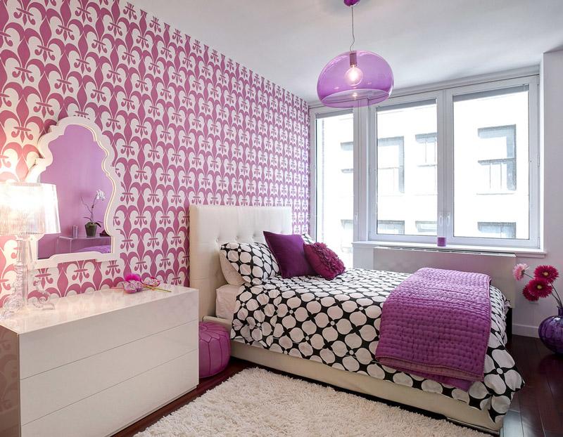 6 estilos 14 fotos de papel de parede p quarto de menina - Papel decorado para paredes ...